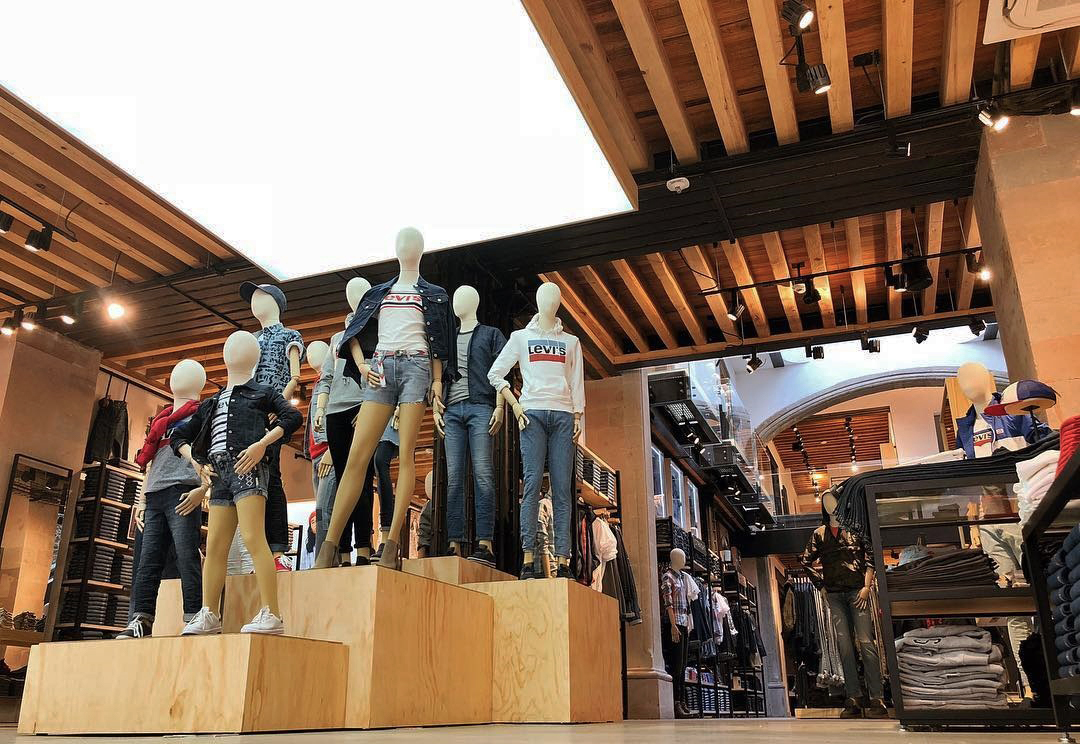 levi's mexico, flagship store, store interior, render, 3d, pixelpool