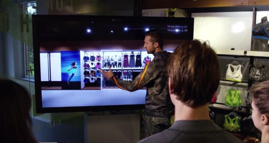 virtual reality, touch screen, nike, store