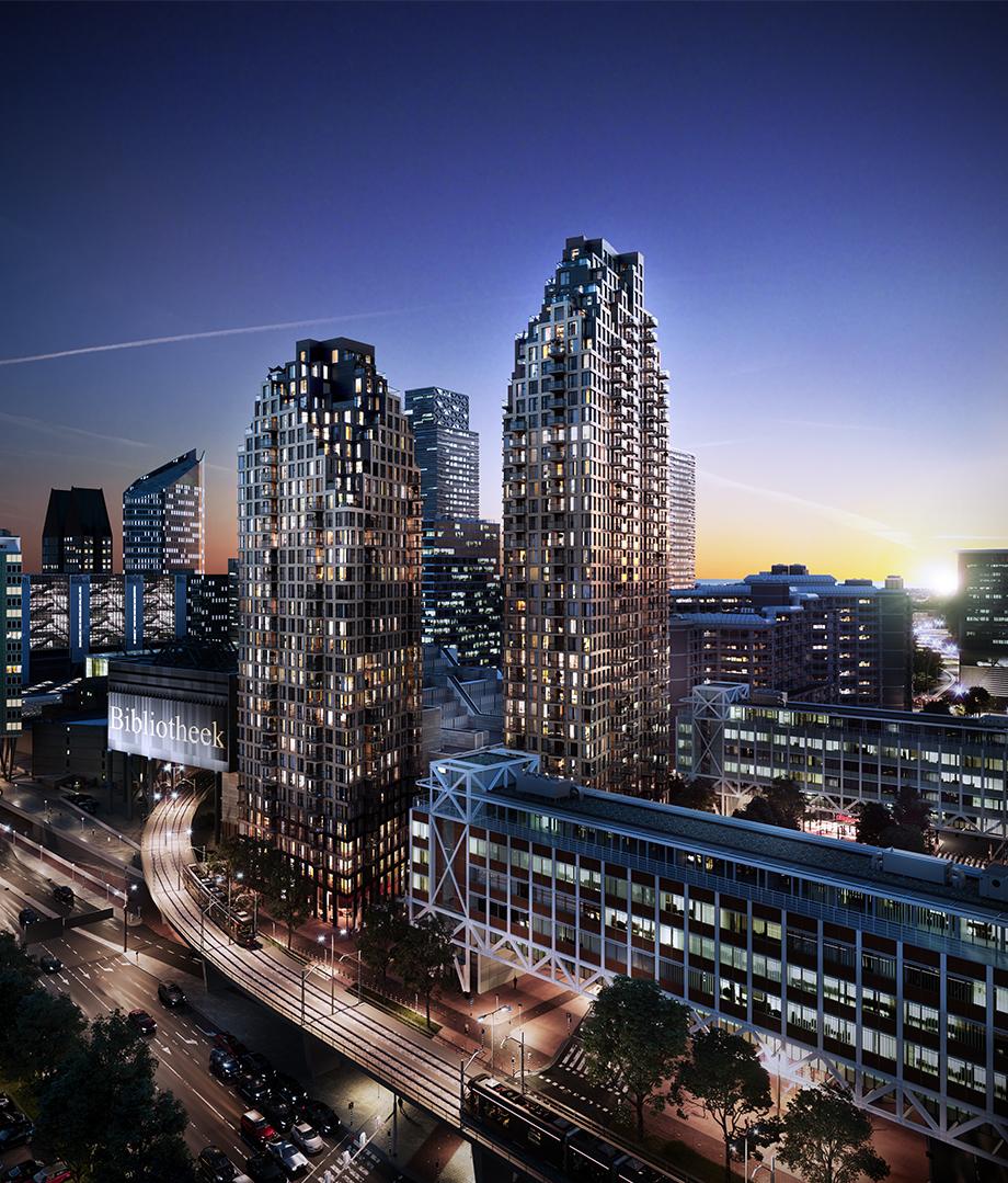 architectural visualization, skyline, 3d, render, pixelpool, den haag