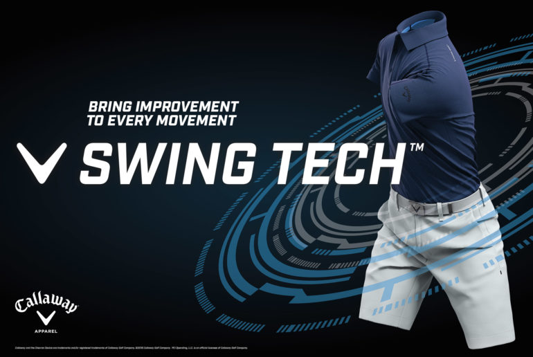 golf swing, render, animation, callaway, blue polo, swing tech