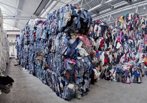 piles of clothing, waste, fast fashion, unsold clothing