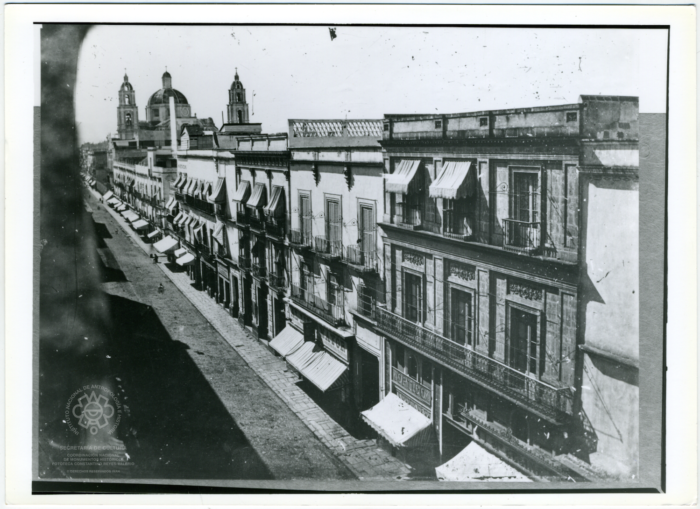 antique picture, mexico city, madero, levi's mexico, black and white, store front