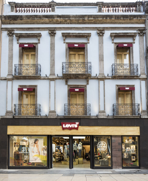 store exterior, levi's, mexico city