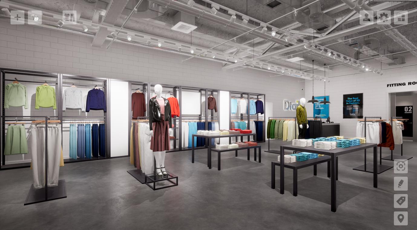 virtual store environment, dtail, mannequins, pixelpool, 3d