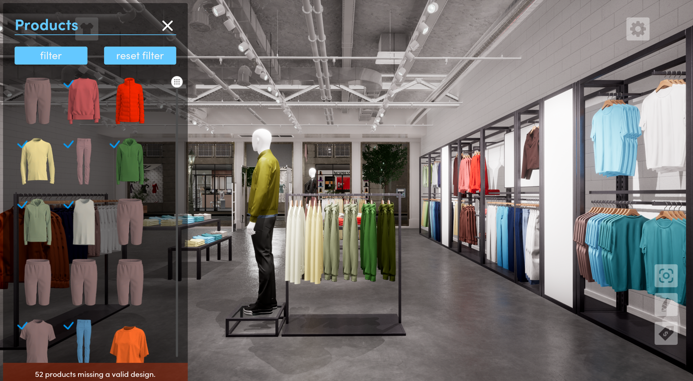 virtual store environment, dtail, 3d, pixelpool