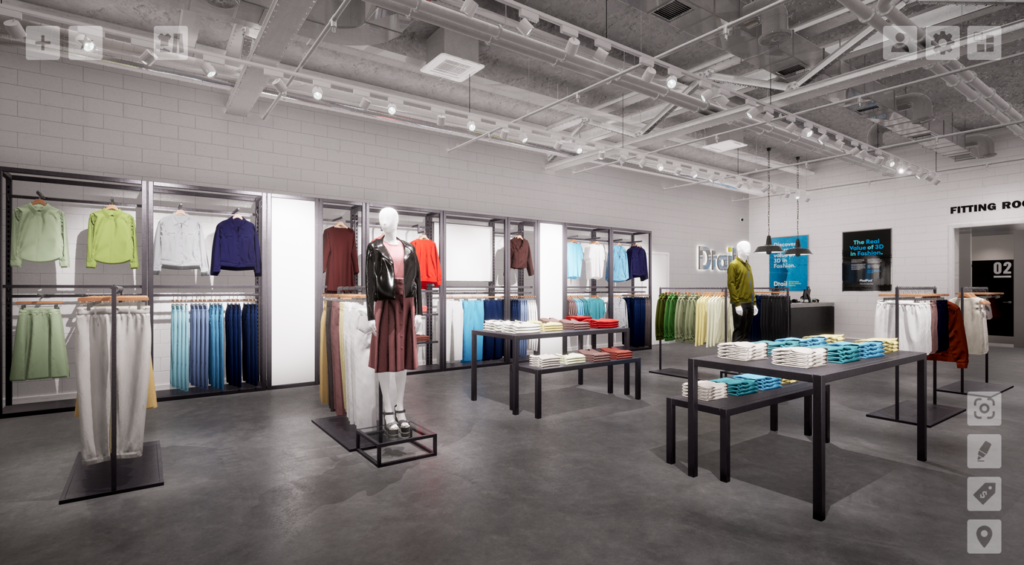 3D fashion, dtail, digital store environment, pixelpool