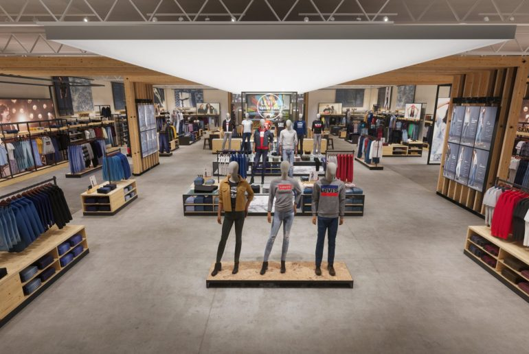 3D fashion, pixelpool, levi's, store interior, digital